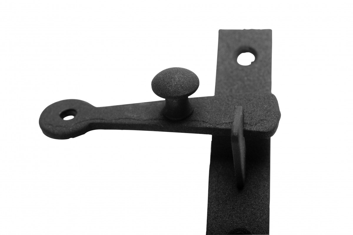 Cabinet Catch Black Wrought Iron .375in Offset 2.5in W Cabinet Latch Wrought Iron Cabinet Latch Antique Black Cabinet Latch