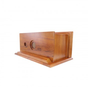 <PRE>High Tank Pull Chain Toilet Bone Elongated Flat Mahogany Wood Tank</PRE>zoom7