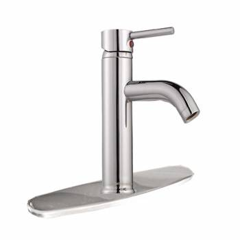 Single Hole Bathroom Sink Faucet Chrome Widespread Plate 21109grid