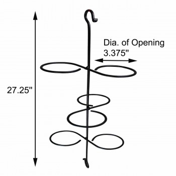 spec-<PRE>Candle Holder Black Wrought Iron H and Hook 24.25&quot;H </PRE>