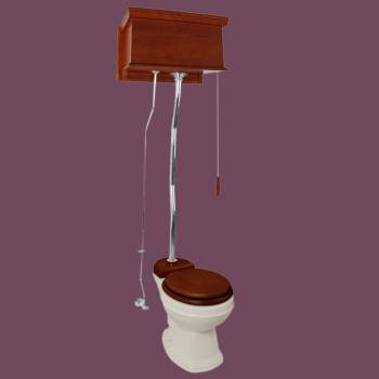 <PRE>Flat Mahogany High Tank Pull Chain Toilet With Bone Round Toilet Bowl And Z-Pipe</PRE>