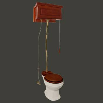 <PRE>Mahogany Raised High Tank Pull Chain Toilet With Bone Round Bowl And Z-Pipe</PRE>zoom2