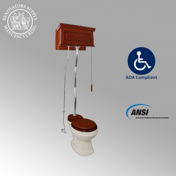 <PRE>Mahogany High Tank Pull Chain Water Closet Elongated Bowl Raisd High Tank Toilet</PRE>zoom2