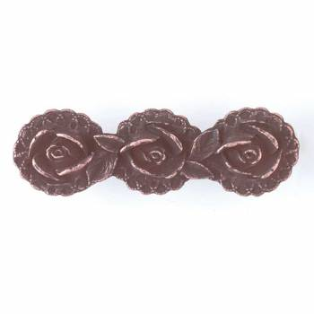 Cabinet Pull Antique Copper Solid Brass Flower 3 12 W Furniture Hardware Cabinet Pull Cabinet Hardware