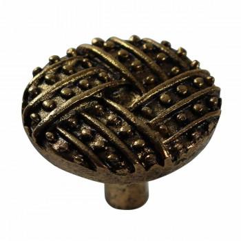 <PRE>Vintage Cabinet Knob Antique Solid Brass 1 1/4inch Dia </PRE>zoom3