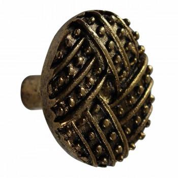 <PRE>Vintage Cabinet Knob Antique Solid Brass 1 1/4inch Dia </PRE>zoom5