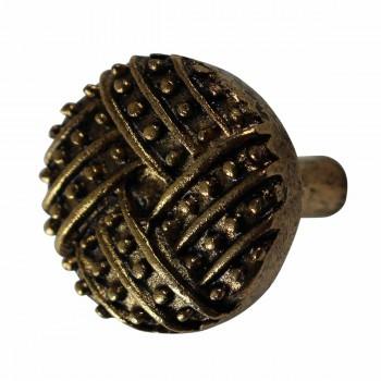 <PRE>Vintage Cabinet Knob Antique Solid Brass 1 1/4inch Dia </PRE>zoom1