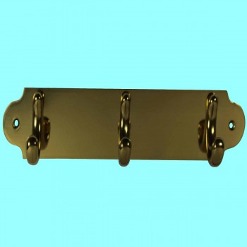 <PRE>Triple Hook Solid Bright Brass Plate </PRE>zoom2