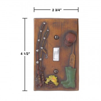 spec-<PRE>Switchplate Fishing Single Toggle/Dimmer Resin </PRE>