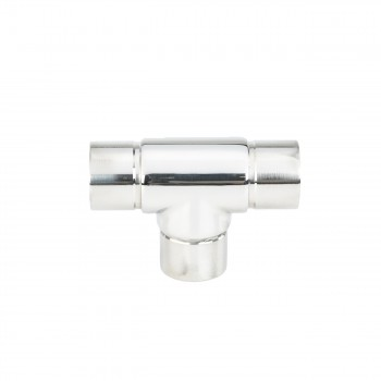 <PRE>1.5inch Tee Handrail Fitting Handicap Connector Stainless </PRE>zoom3