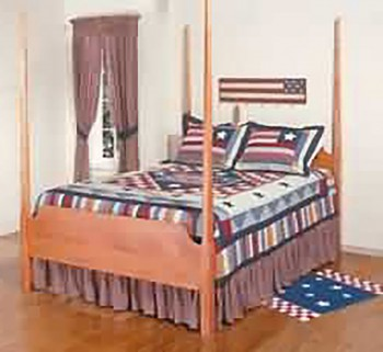 Dust Ruffle Old Glory Cotton Full Bed Size Bed Skirt Bed Skirts Dust Ruffle