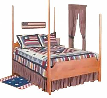Dust Ruffle Old Glory Cotton Full Bed Size 21545grid