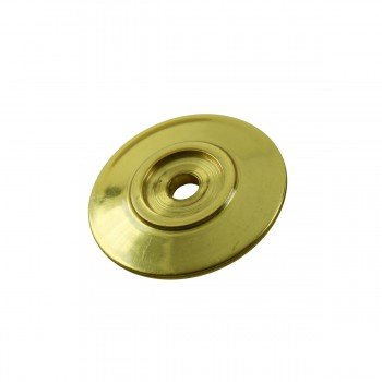 Cabinet Knob Rosette Bright Solid Brass 1 14 Cabinet Knob Roses Cabinet Knob Back Plate Cabinet Knob Backplate