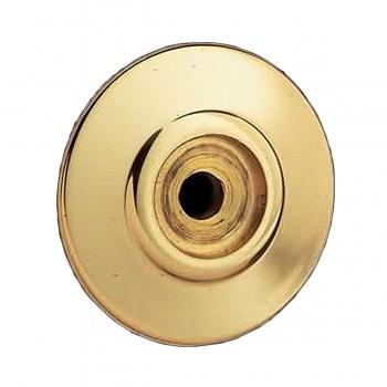 <PRE>Cabinet Knob Rosette Bright Solid Brass 1inch </PRE>zoom3