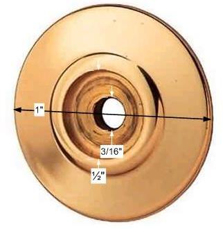 spec-<PRE>Cabinet Knob Rosette Bright Solid Brass 1&quot; </PRE>