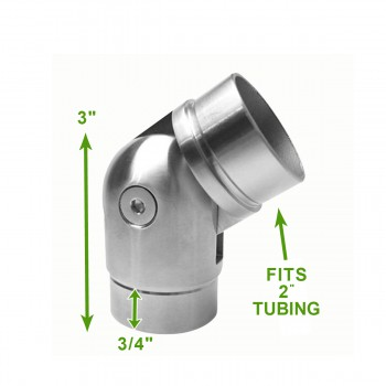 "spec-<PRE>135 Degree 2"" Elbow Rail Fitting Connector Stainless Steel </PRE>"