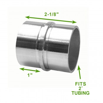 "spec-<PRE>Handicap Rail Joint Connector 2"" Stainless Steel </PRE>"