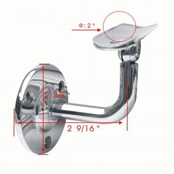 spec-<PRE>2&quot; Handrail Swivel Bracket Armrest Tubing Holder Stainless </PRE>