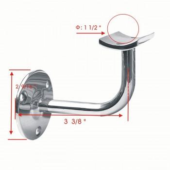 """spec-<PRE>1.5"""" Handrail Bracket Armrest Tubing Holder Stainless </PRE>"""