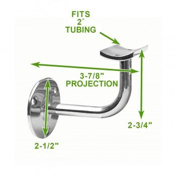 """spec-<PRE>2"""" Handrail Bracket Armrest Tubing Holder Stainless </PRE>"""