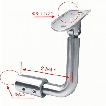 spec-<PRE>1 1/2&quot; Bar Rail Bracket Armrest Tubing Holder Stainless Steel </PRE>