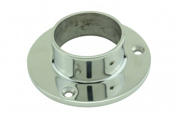 <PRE>4inch Wall Flange 2&quot; OD Bar Foot Rail Tubing Holder Stainless </PRE>zoom4