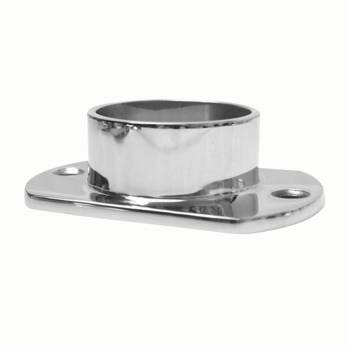 Cut Wall Flange 2 OD Bar Foot Rail Tubing Holder Stainless