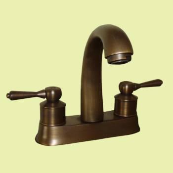 <PRE>Faucet Antique Brass Classic Bathroom Sink Centerset 2 Lever </PRE>