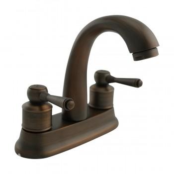 Classic Antique Brass Centerset Sink Faucet with 2 Lever Centerset Faucet Bathroom Center set Faucet 3 Hole 4 Centerset Faucet