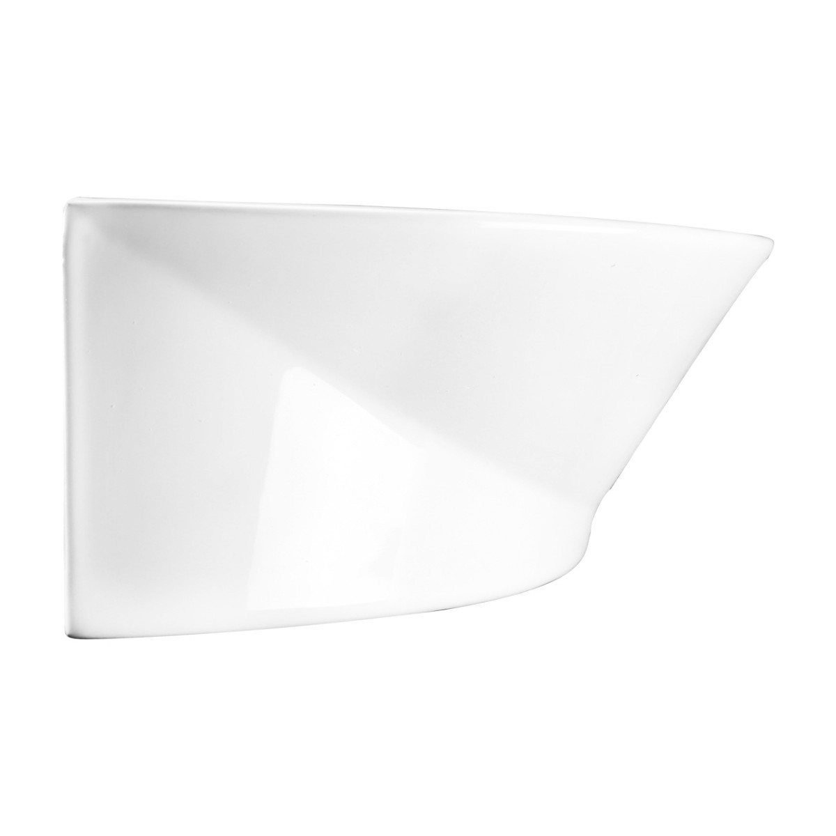White Small Wall Mount Sink with Single Faucet Hole Overflow Bathroom