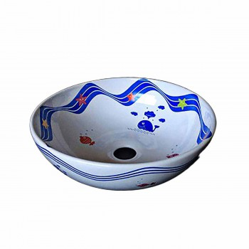 Bathroom Vessel Sink White Sea World China 21673grid