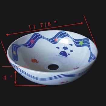 spec-<PRE>Bathroom Vessel Sink White Sea World China </PRE>