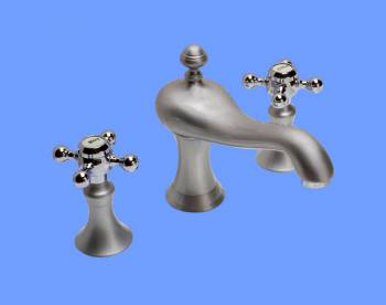 <PRE>Bathroom 8inch Widespread Satin Nickel Faucet Chrome Handle</PRE>zoom2