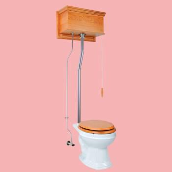 <PRE>High Tank Toilets Light Oak Flat Tank Round High Tank Toilet</PRE>zoom2
