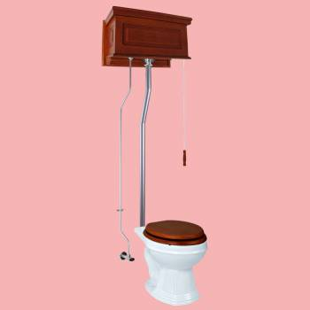 <PRE>High Tank Toilets Mahogany Raised Tank Round High Tank Toilet</PRE>zoom2