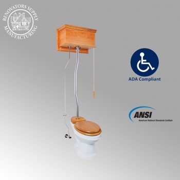 <PRE>High Tank Toilets Light Oak Flat Tank Elongated High Tank Toilet</PRE>zoom2