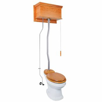 <PRE>High Tank Toilets Light Oak Flat Tank Elongated High Tank Toilet</PRE>zoom1
