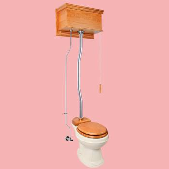 <PRE>High Tank Toilets Light Oak Flat Tank Elongated High Tank Toilet</PRE>zoom2