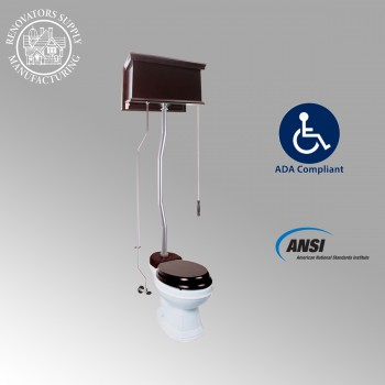 <PRE>Dark Oak Flat High Tank Pull Chain Toilet with Elongated Bowl and Satin Z-Pipe</PRE>zoom2