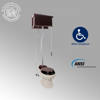 <PRE>High Tank Toilets Dark Oak Flat Tank Elongated High Tank Toilet</PRE>zoom2
