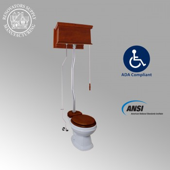 <PRE>High Tank Toilets Mahogany Flat Tank Elongated High Tank Toilet</PRE>zoom2