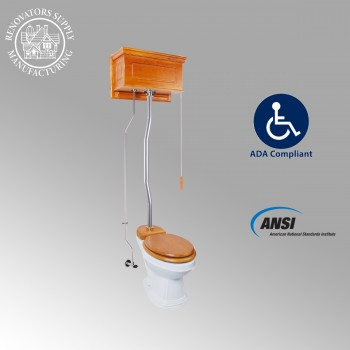 <PRE>High Tank Toilets LightOak Raised Tank Elongated High Tank Toilet</PRE>zoom2