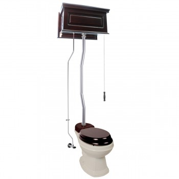 <PRE>High Tank Toilets Dark Oak Raised Tank Elongated High Tank Toilet</PRE>zoom1