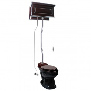<PRE>Dark Oak Raised Tank High Tank Toilets With Elongated Bowl & Satin Finish Z Pipe</PRE>zoom1