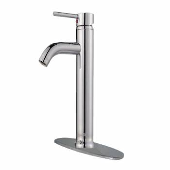Bathroom Faucet Chrome Plated Single Hole 1 Handle 12 3/16 H21807grid