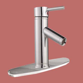 spec-<PRE>Single Hole Bathroom Sink Faucet Chrome Widespread Plate </PRE>