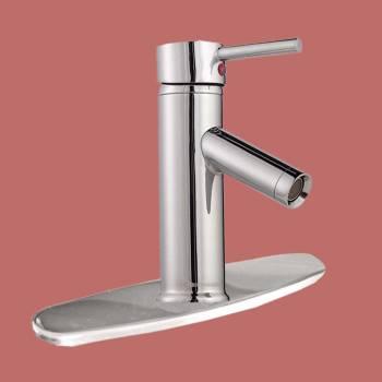 spec-<PRE>Single Hole Bathroom Sink Faucet Chrome 8&quot; Widespread Plate </PRE>