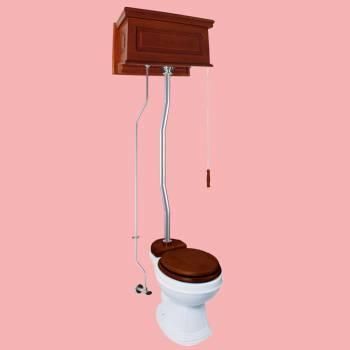 <PRE>High Tank Toilets Mahogany Raised Tank Round High Tank Toilet</PRE>zoom2