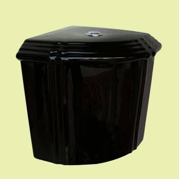 <PRE>Bathroom Toilet Tank Sheffield Black Ceramic Tank Only </PRE>
