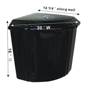 spec-<PRE>Bathroom Toilet Tank Sheffield Black Ceramic Tank Only </PRE>